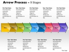 Mba Models And Frameworks Arrow Process 9 Stages Consulting Diagram
