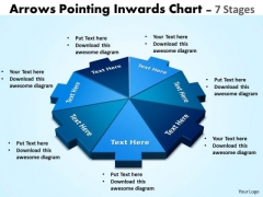 Mba Models And Frameworks Arrows Pointing Inwards Chart 7 Stages Consulting Diagram