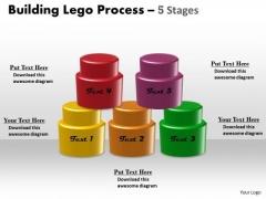 Mba Models And Frameworks Building Lego Process 5 Stages Sales Diagram