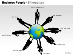 Mba Models And Frameworks Business People Silhouettes Strategy Diagram