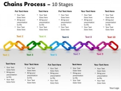 Mba Models And Frameworks Chains Process 10 Stages Business Diagram