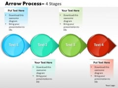 Mba Models And Frameworks Circle Arrow 4 Stages Sales Diagram