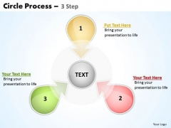 Mba Models And Frameworks Circle Process 3 Step 4 Strategy Diagram