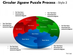 Mba Models And Frameworks Circular Jigsaw Diagram Style Business Framework Model