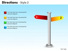 Mba Models And Frameworks Directions Style 2 Marketing Diagram