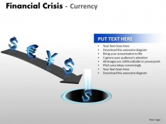 Mba Models And Frameworks Financial Crisis Currency Business Diagram