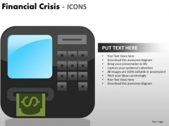 Mba Models And Frameworks Financial Crisis Icons Sales Diagram