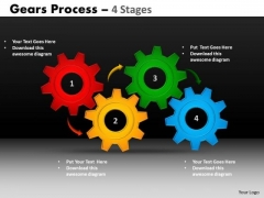 Mba Models And Frameworks Gears Process 4 Stages Style Sales Diagram