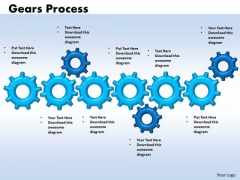 Mba Models And Frameworks Gears Process 6 Stages Sales Diagram