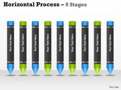 Mba Models And Frameworks Horizontal Process 9 Stages Strategy Diagram