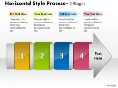 Mba Models And Frameworks Horizontal Style 4 Stages Business Diagram