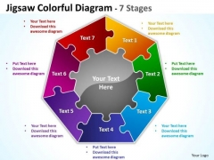 Mba Models And Frameworks Jigsaw Colorful Diagram 7 Stages Consulting Diagram