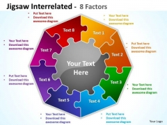 Mba Models And Frameworks Jigsaw Interrelated 8 Diagram Factors Marketing Diagram