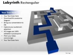 Mba Models And Frameworks Labyrinth Rectangular Business Diagram