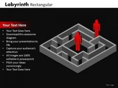 Mba Models And Frameworks Labyrinth Rectangular Marketing Diagram