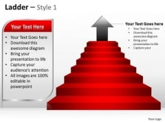 Mba Models And Frameworks Ladder Style With Goal Achievement Theme Marketing Diagram