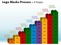 Mba Models And Frameworks Lego Blocks Process 9 Stages Consulting Diagram