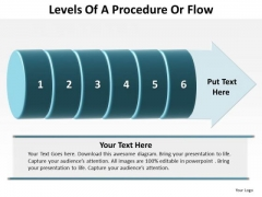 Mba Models And Frameworks Levels Of A Procedure Or Flow 6 Stages Sales Diagram
