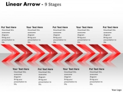 Mba Models And Frameworks Linear Arrows 9 Stages Strategy Diagram