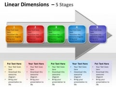 Mba Models And Frameworks Linear Dimensions 5 Stages Business Diagram