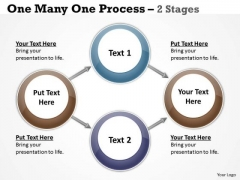Mba Models And Frameworks One Many One Process 2 Stages Business Diagram