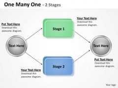 Mba Models And Frameworks One Many One Stages 2 Business Diagram