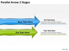 Mba Models And Frameworks Parallel Arrow 2 Stages Sales Diagram
