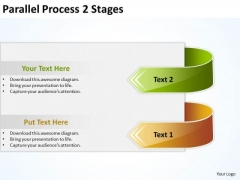 Mba Models And Frameworks Parallel Process 2 Stages Business Cycle Diagram