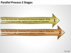 Mba Models And Frameworks Parallel Process 2 Stages Consulting Diagram