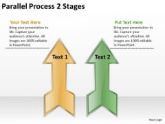 Mba Models And Frameworks Parallel Process 2 Stages Marketing Diagram
