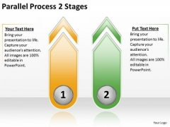 Mba Models And Frameworks Parallel Process 2 Stages Strategy Diagram