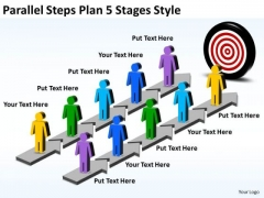 Mba Models And Frameworks Parallel Steps Plan 5 Stages Style Strategy Diagram