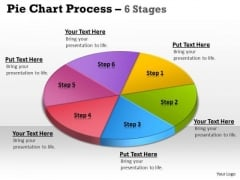Mba Models And Frameworks Pie Chart Process 6 Stages Marketing Diagram