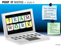 Mba Models And Frameworks Post It Notes Style 4 Marketing Diagram