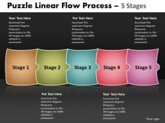Mba Models And Frameworks Puzzle Linear Flow Process 5 Stages 91 Strategic Management