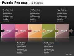Mba Models And Frameworks Puzzle Process 5 Stages Strategic Management