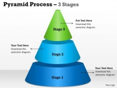 Mba Models And Frameworks Pyramid Process 3 Stages For Marketing Sales Diagram
