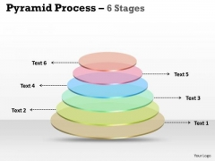 Mba Models And Frameworks Ring Pyramid Process 6 Stages Sales Diagram