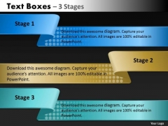 Mba Models And Frameworks Text Boxes 3 Stages Sales Diagram