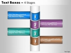 Mba Models And Frameworks Text Boxes 4 Stages Diagram Sales Diagram