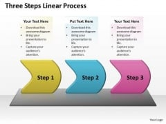 Mba Models And Frameworks Three Steps Linear Process Sales Diagram