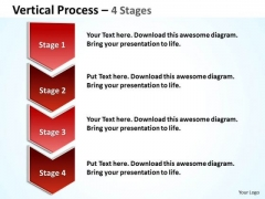 Mba Models And Frameworks Vertical Process 4 Steps Diagram Consulting Diagram