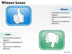 Mba Models And Frameworks Winner Loser Diagrams Strategy Diagram