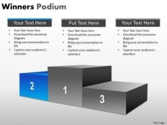 Mba Models And Frameworks Winners Podium Strategy Diagram