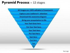 Sales Diagram 12 Staged Triangular Process Flow Consulting Diagram