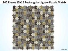 Sales Diagram 240 Pieces 15x16 Rectangular Jigsaw Puzzle Matrix Consulting Diagram