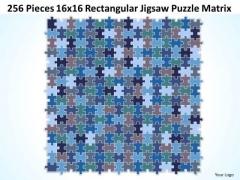 Sales Diagram 256 Pieces 16x16 Rectangular Jigsaw Puzzle Matrix Consulting Diagram