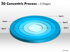 Sales Diagram 2d Concentric Process 5 Stages Business Mba Models And Frameworks