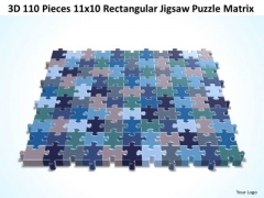 Sales Diagram 3d 110 Pieces 11x10 Rectangular Jigsaw Puzzle Matrix Strategy Diagram