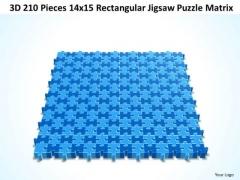 Sales Diagram 3d 210 Pieces 14x15 Rectangular Jigsaw Puzzle Matrix Consulting Diagram
